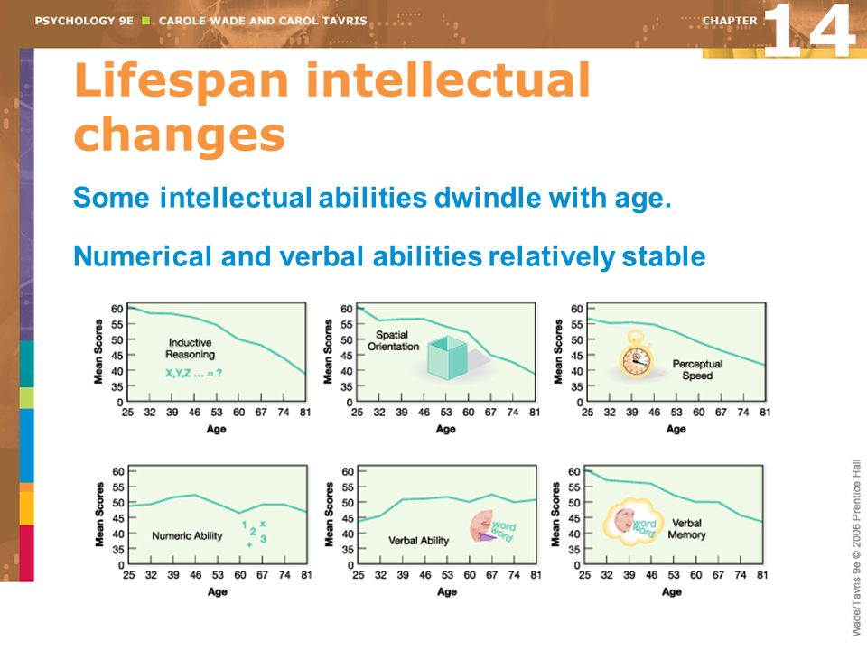 Lifespan intellectual changes