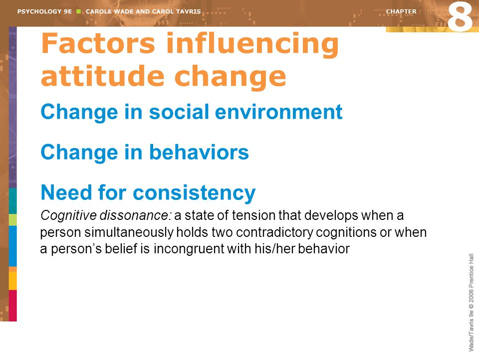 Factors influencing attitude change