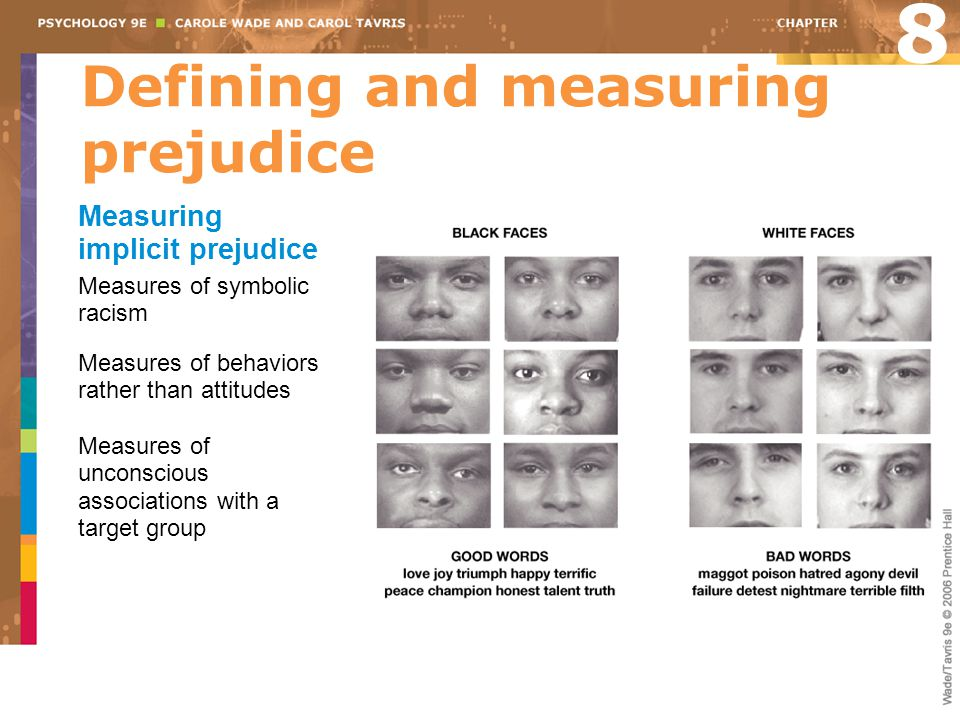 Defining and measuring prejudice