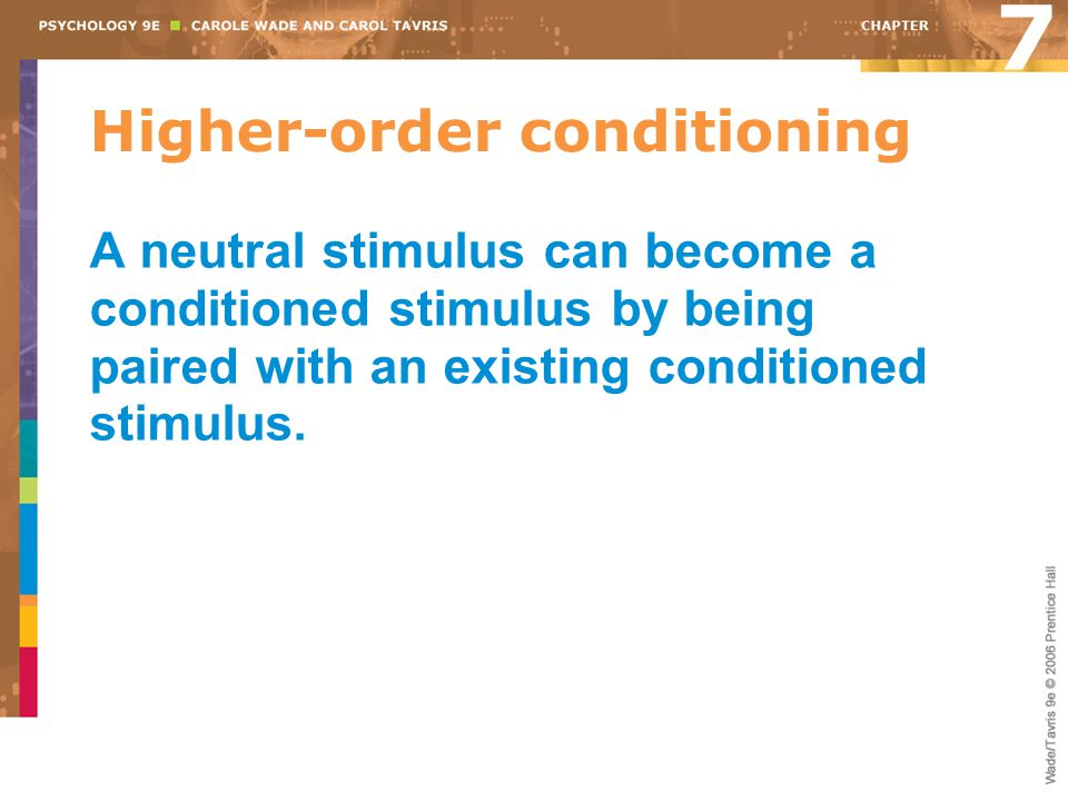 Higher-order conditioning