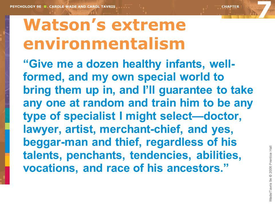 Watson's extreme environmentalism