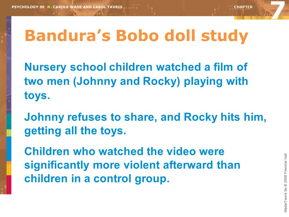 Bandura's Bobo doll study