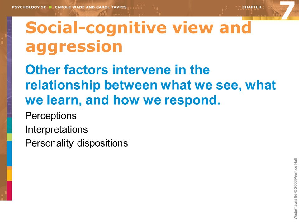 Social-cognitive view and aggression