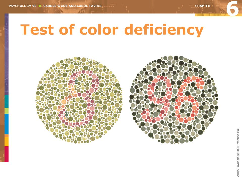 Test of color deficiency
