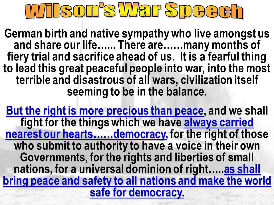 Wilson s War Speech
