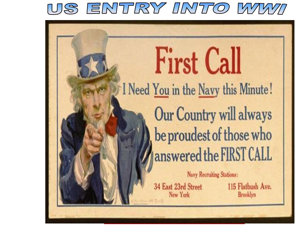 US ENTRY INTO WWI congress actions