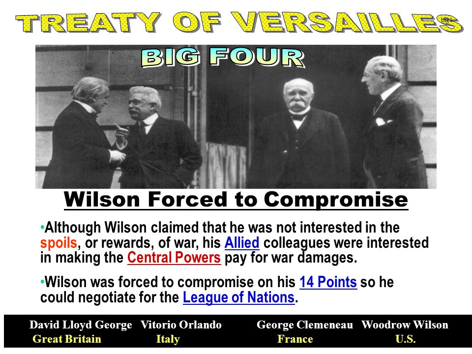 Wilson Forced to Compromise