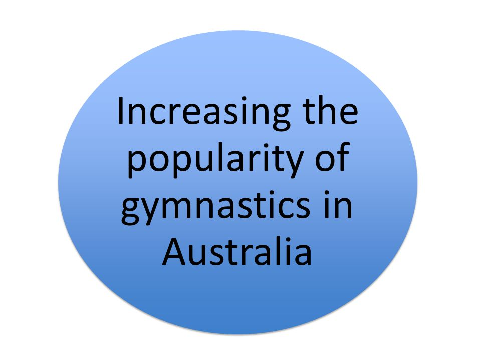 Increasing the popularity of gymnastics in Australia