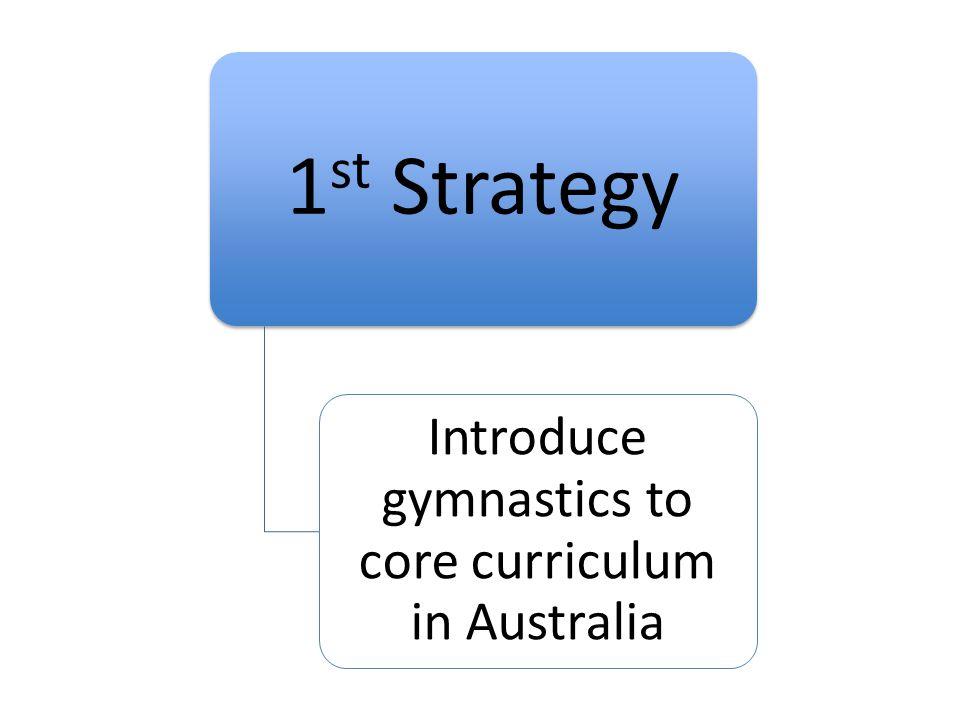 Introduce gymnastics to core curriculum in Australia