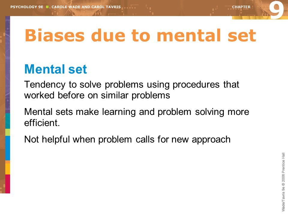Biases due to mental set
