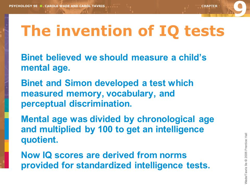 The invention of IQ tests
