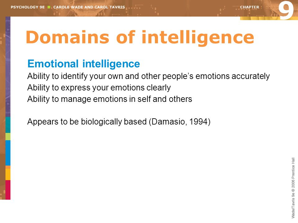 Domains of intelligence
