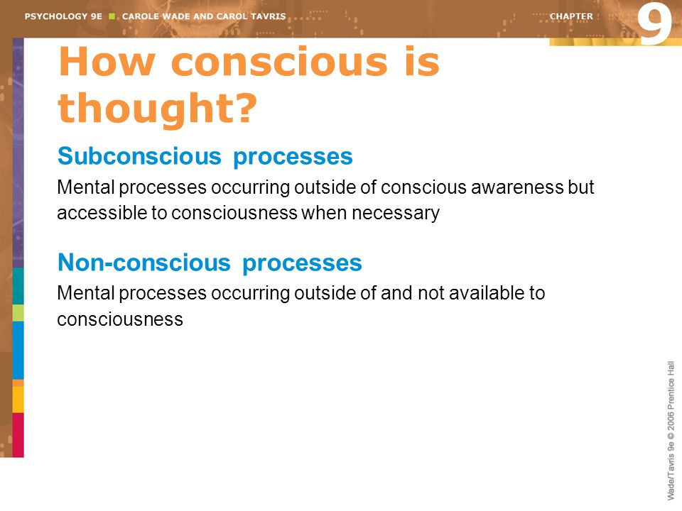 How conscious is thought
