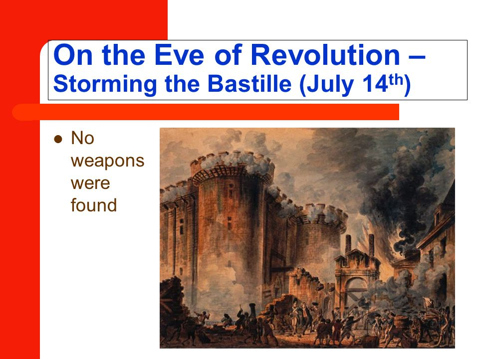 On the Eve of Revolution – Storming the Bastille (July 14th)