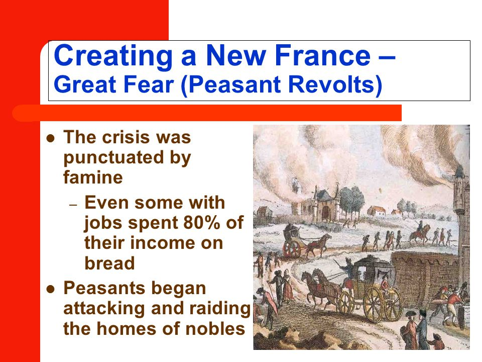 Creating a New France – Great Fear (Peasant Revolts)