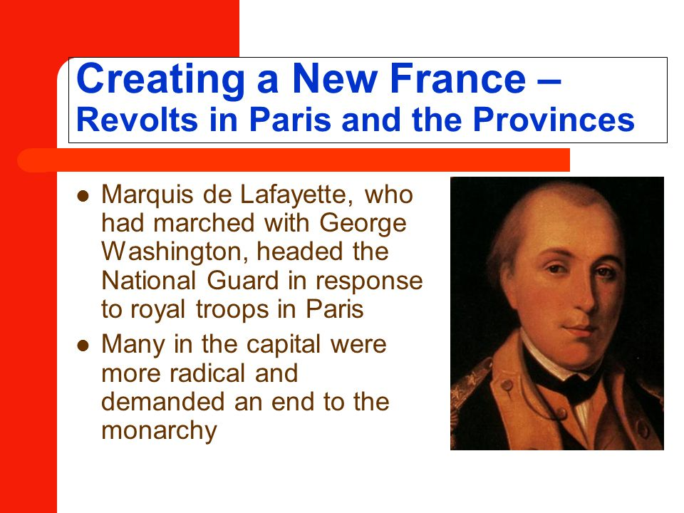 Creating a New France – Revolts in Paris and the Provinces