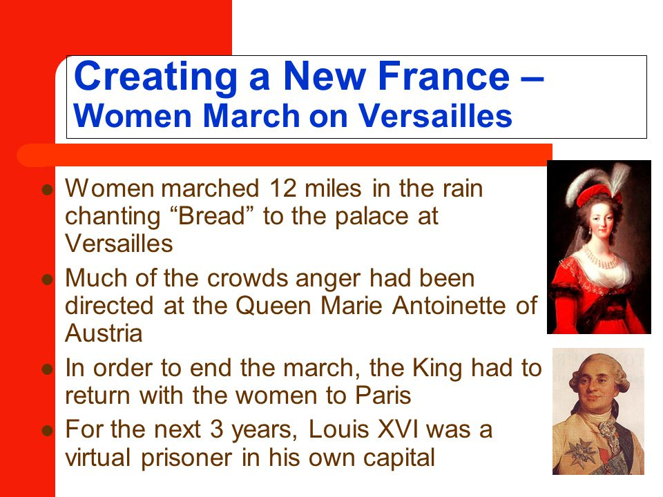 Creating a New France – Women March on Versailles