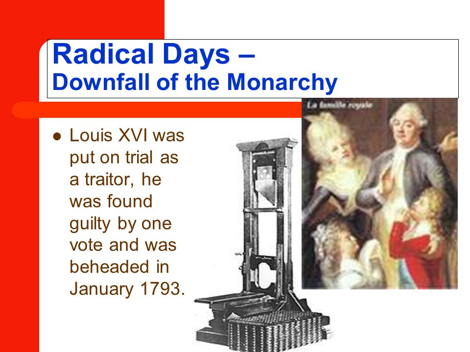 Radical Days – Downfall of the Monarchy