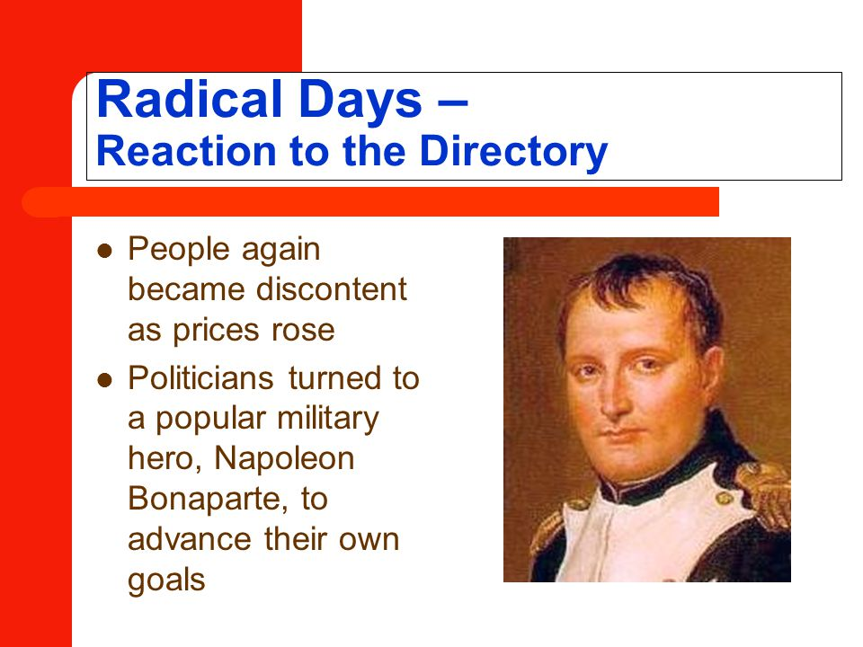 Radical Days – Reaction to the Directory