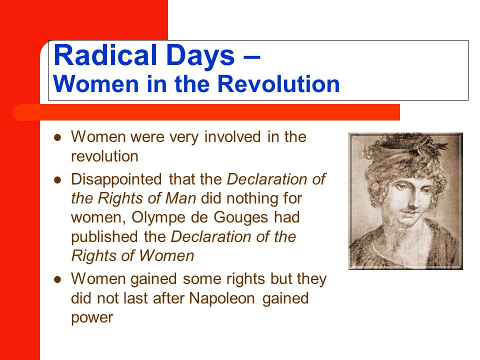 Radical Days – Women in the Revolution