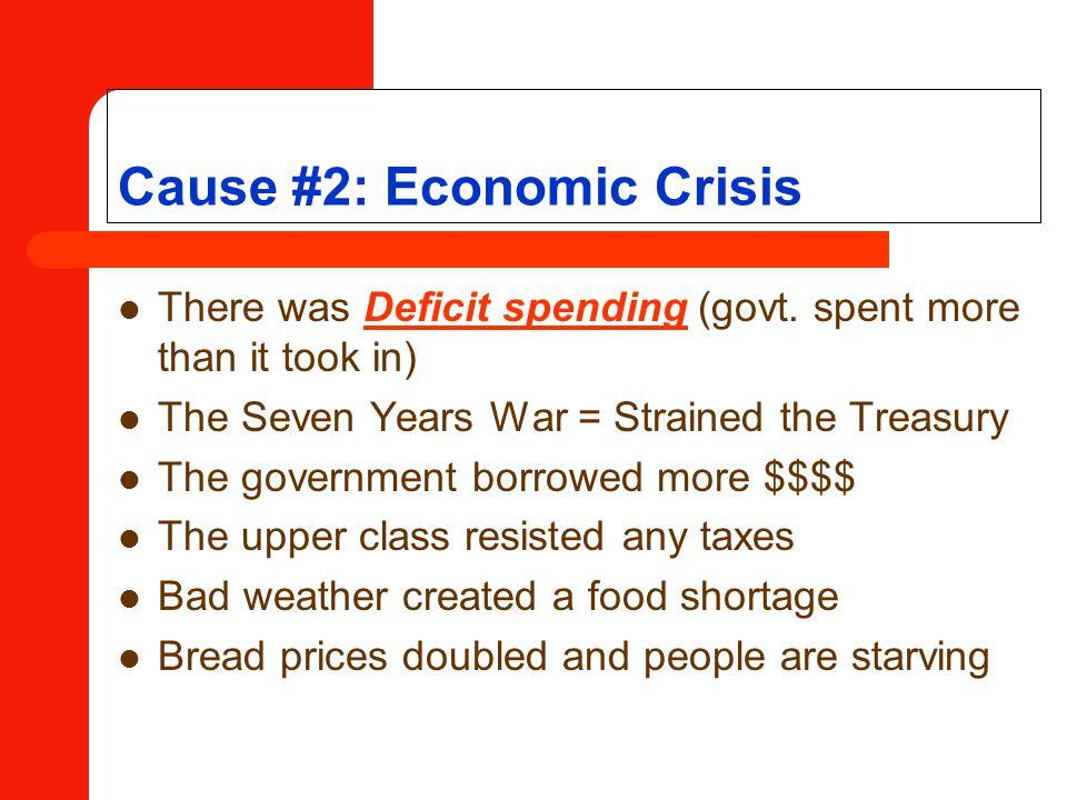 Cause #2: Economic Crisis