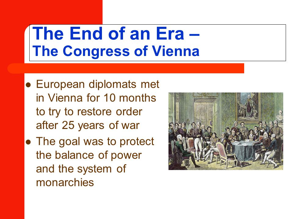 The End of an Era – The Congress of Vienna