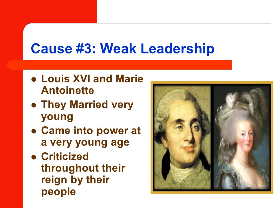 Cause #3: Weak Leadership