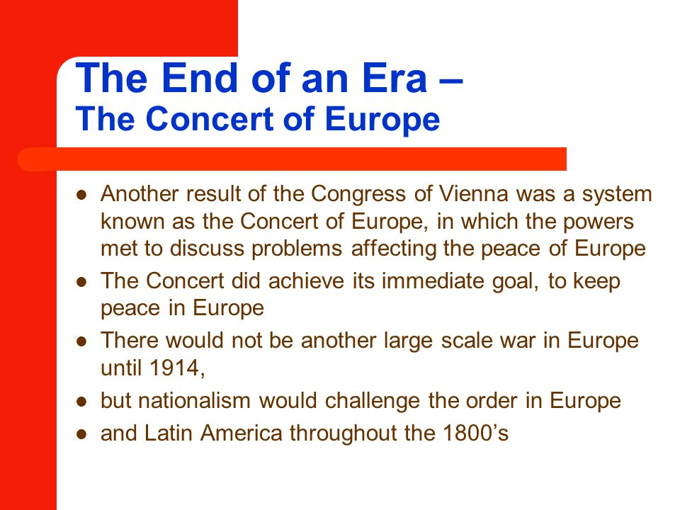 The End of an Era – The Concert of Europe