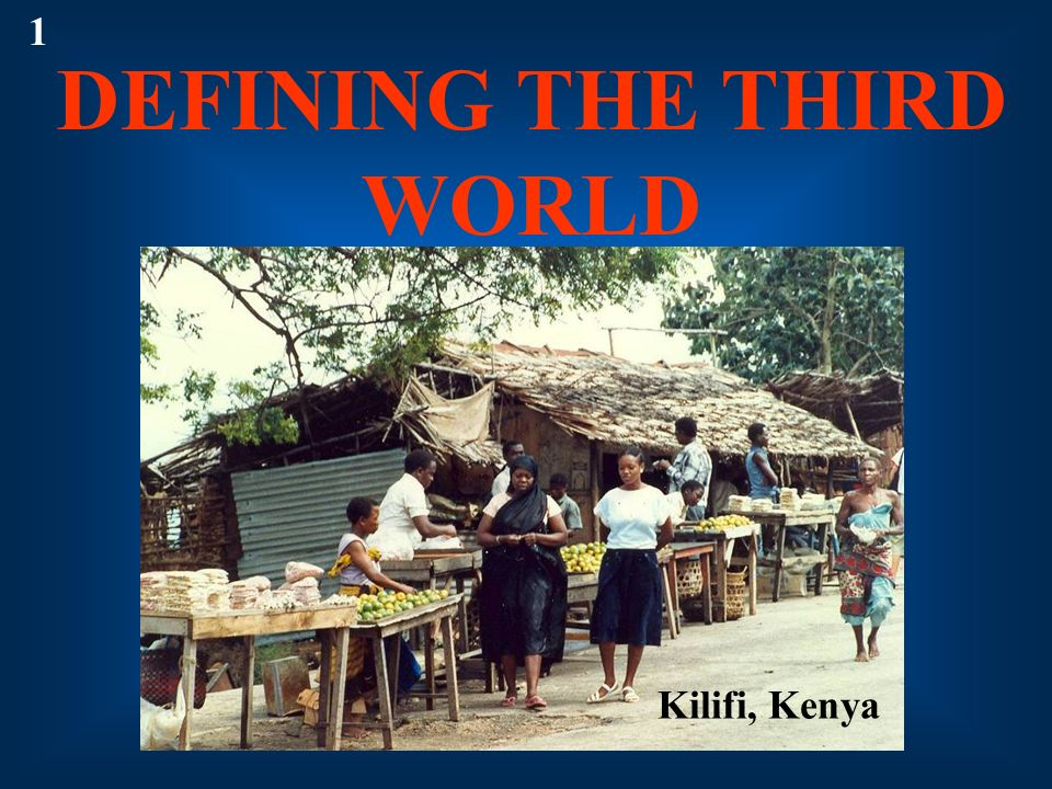 DEFINING THE THIRD WORLD