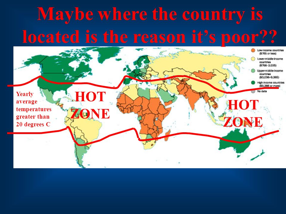 Maybe where the country is located is the reason it's poor