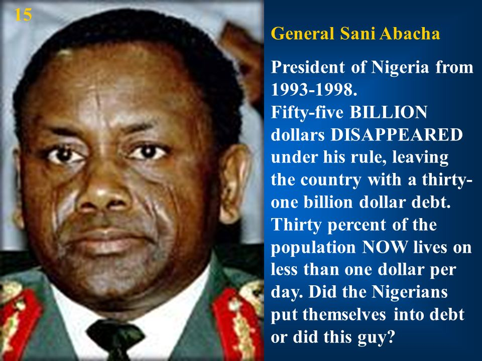 15 General Sani Abacha.
