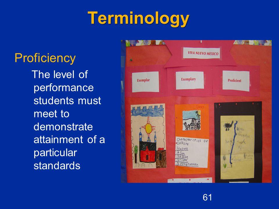 Terminology Proficiency