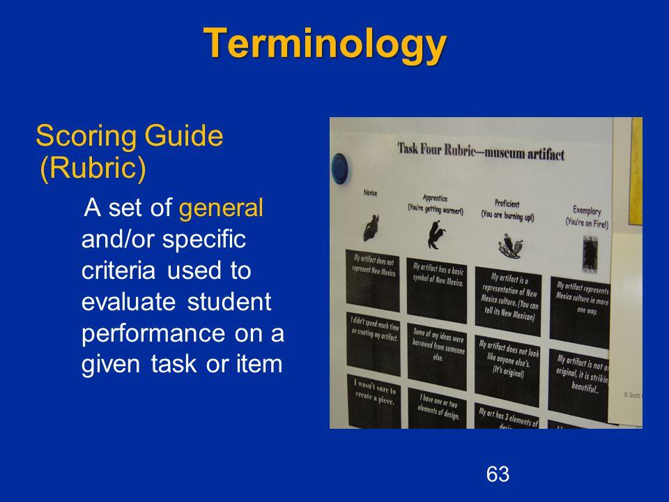 Terminology Scoring Guide (Rubric)