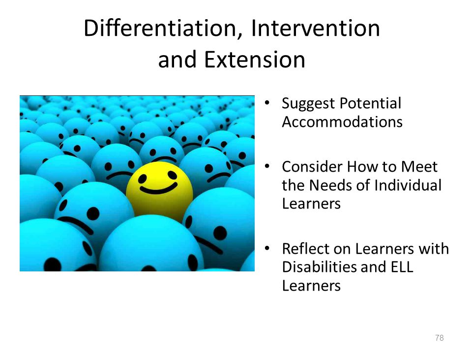 Differentiation, Intervention and Extension