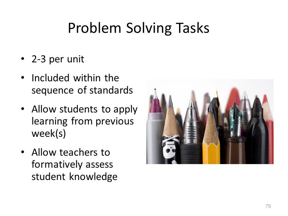 Problem Solving Tasks 2-3 per unit