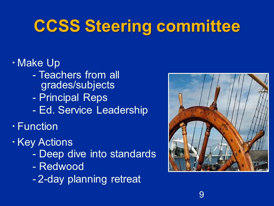 CCSS Steering committee