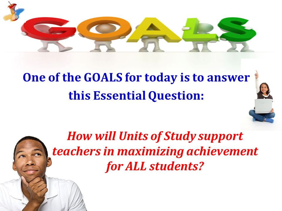 One of the GOALS for today is to answer this Essential Question: