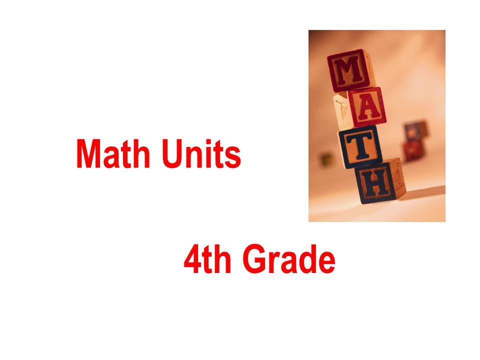 Math Units 4th Grade