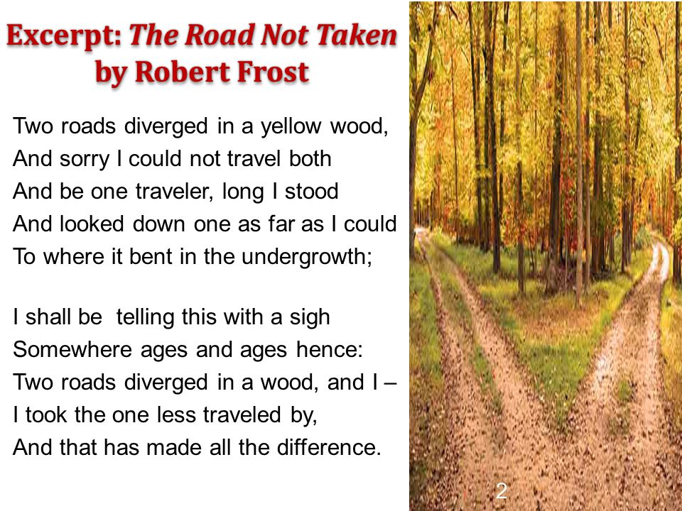 Excerpt: The Road Not Taken