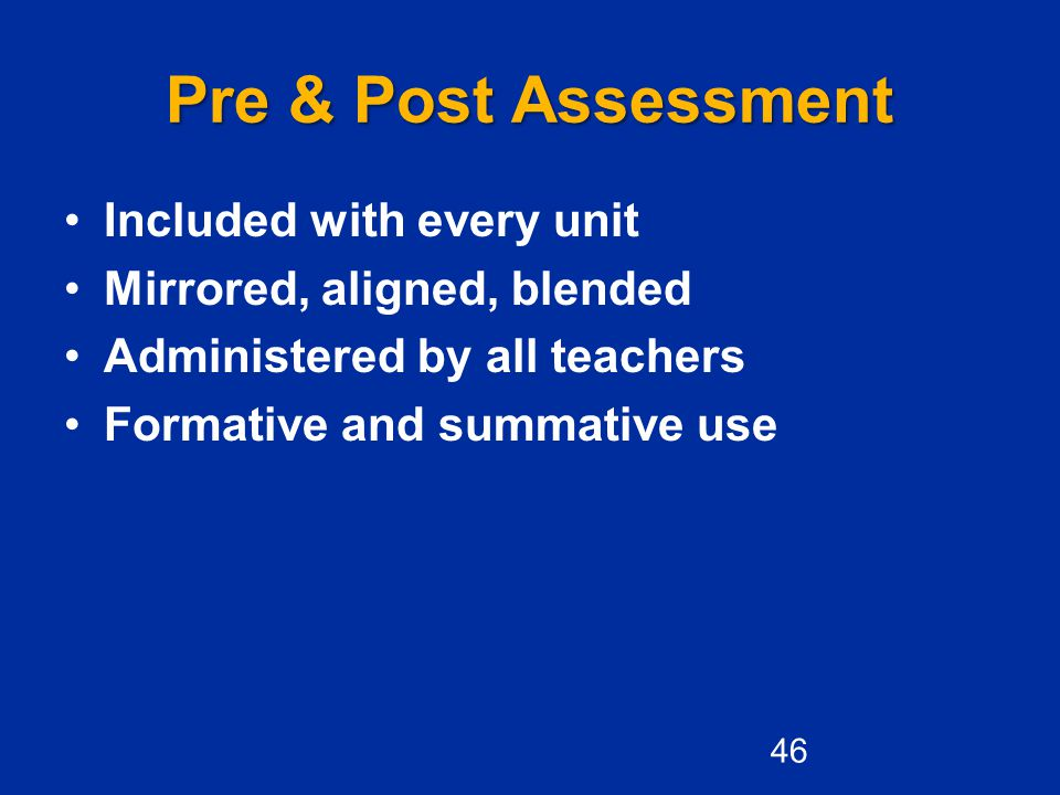 Pre & Post Assessment Included with every unit