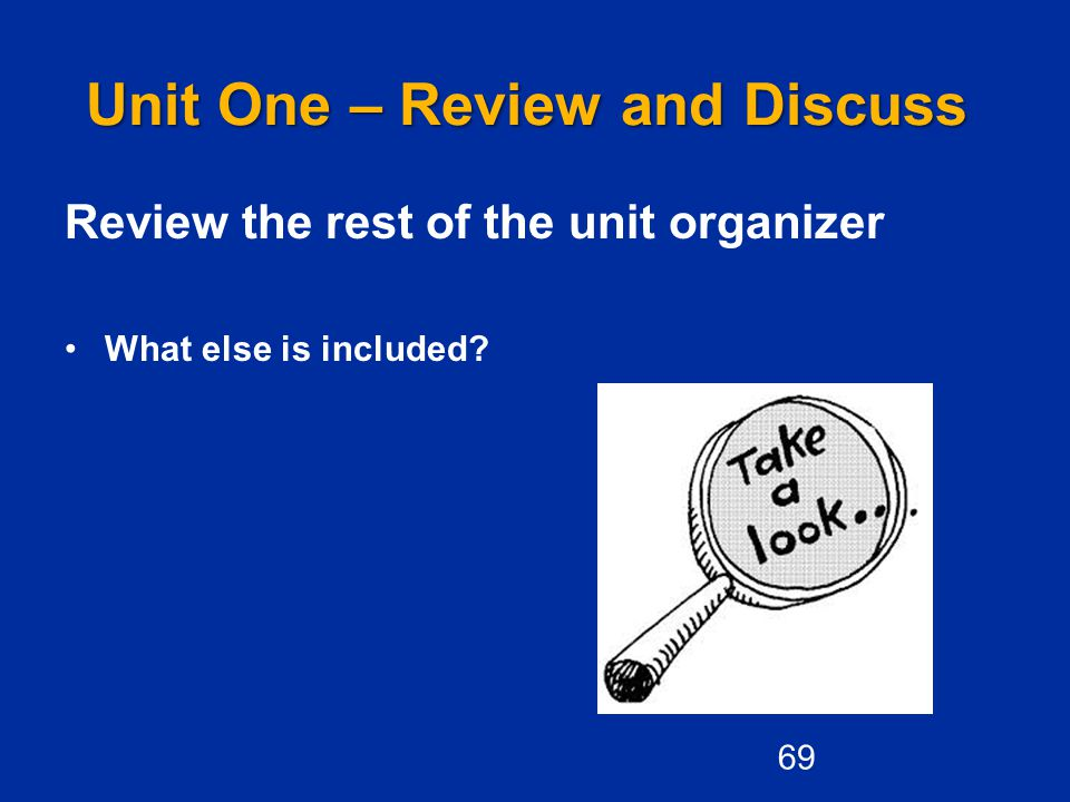 Unit One – Review and Discuss