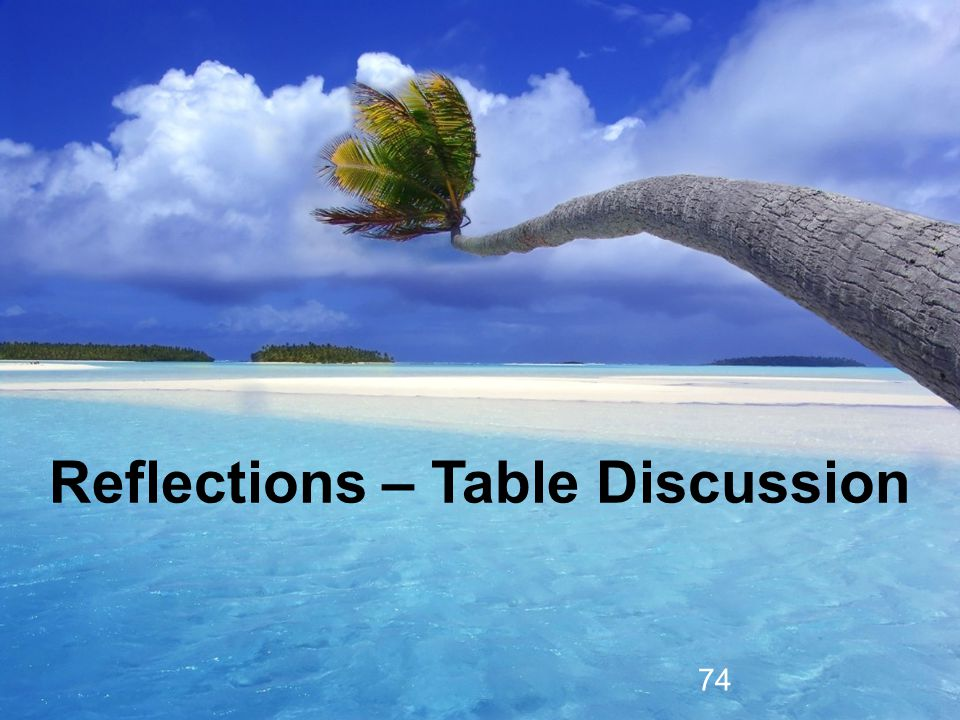 Reflections – Table Discussion