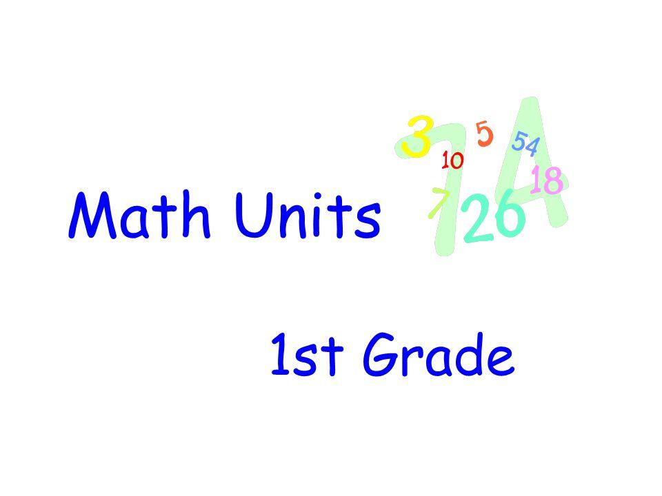 Math Units 1st Grade