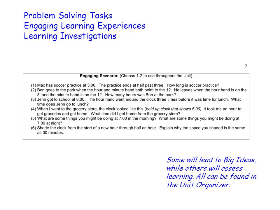 Engaging Learning Experiences Learning Investigations