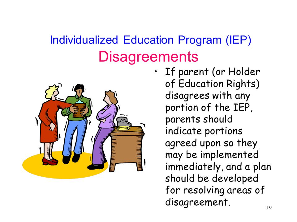 Individualized Education Program (IEP) Disagreements