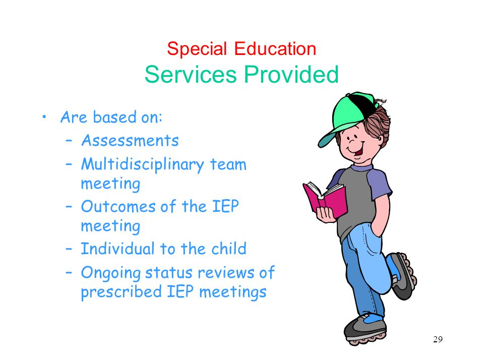 Special Education Services Provided