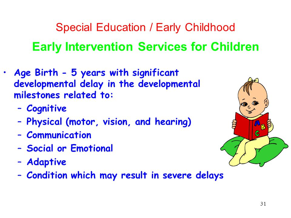Special Education / Early Childhood Early Intervention Services for Children