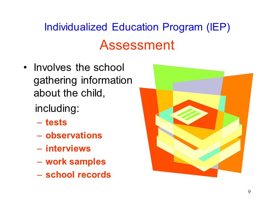 Individualized Education Program (IEP) Assessment
