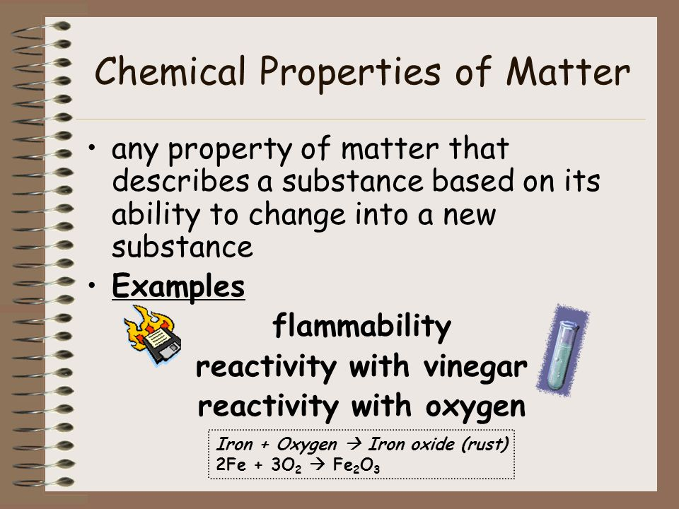 Chemical Properties of Matter