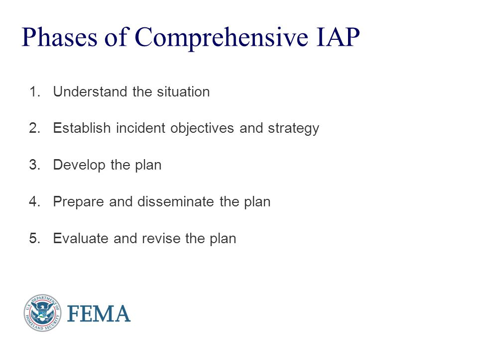 Phases of Comprehensive IAP